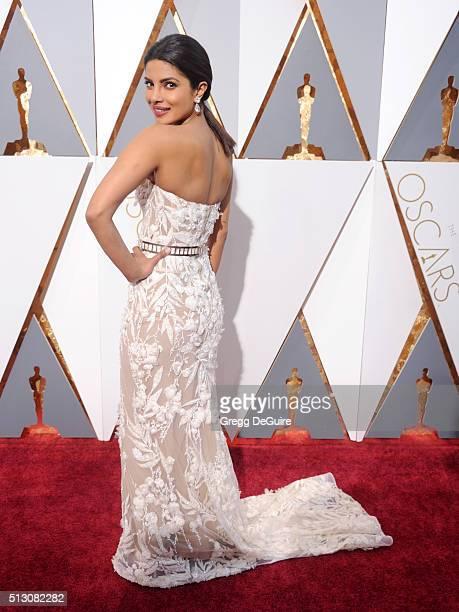 Actress Priyanka Chopra arrives at the 88th Annual Academy Awards at Hollywood Highland Center on February 28 2016 in Hollywood California