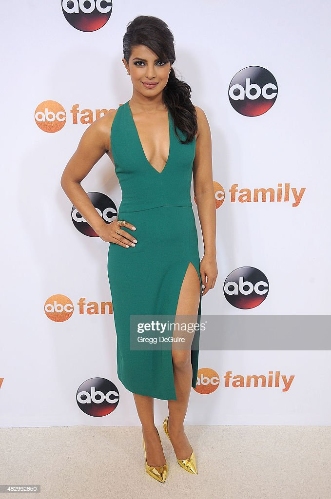 Actress <a gi-track='captionPersonalityLinkClicked' href=/galleries/search?phrase=Priyanka+Chopra&family=editorial&specificpeople=228954 ng-click='$event.stopPropagation()'>Priyanka Chopra</a> arrives at the Disney ABC Television Group's 2015 TCA Summer Press Tour on August 4, 2015 in Beverly Hills, California.