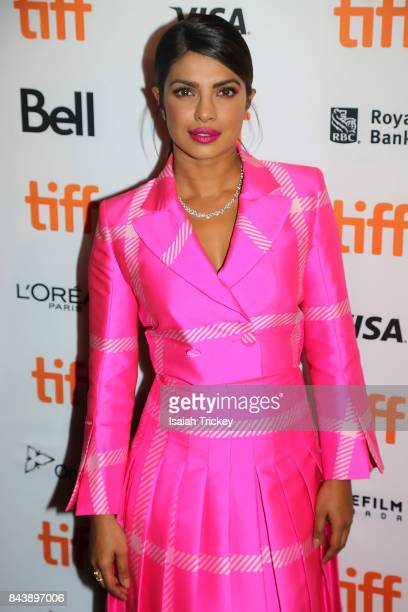 Actress Priyanka Chopra arrives at the 'Pahuna The Little Visitors' premiere during the 2017 Toronto International Film Festival on September 7 2017...