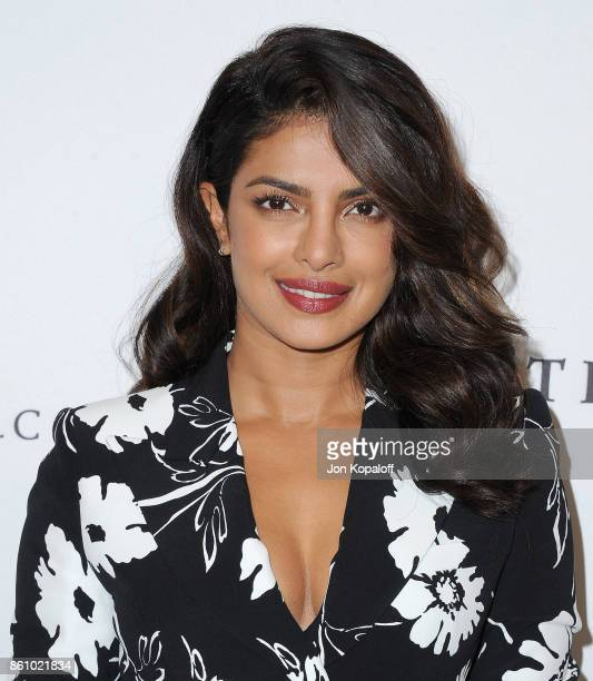 Actress Priyanka Chopra arrives at Variety's Power Of Women Los Angeles at the Beverly Wilshire Four Seasons Hotel on October 13 2017 in Beverly...