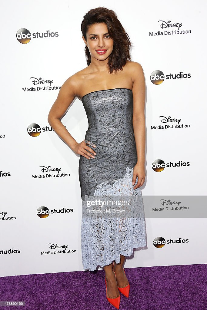 Actress Priyanka Chopra attends Disney Media Disribution International Upfronts at Walt Disney Studios on May 17 2015 in Burbank California