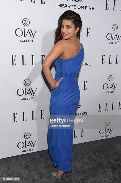 Actress Priyanka Chopra attends ELLE's 6th Annual Women In Television Dinner at Sunset Tower Hotel on January 20 2016 in West Hollywood California