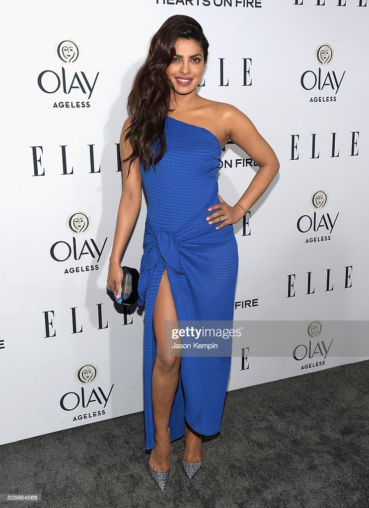Actress <a gi-track='captionPersonalityLinkClicked' href=/galleries/search?phrase=Priyanka+Chopra&family=editorial&specificpeople=228954 ng-click='$event.stopPropagation()'>Priyanka Chopra</a> attends ELLE's 6th Annual Women In Television Dinner at Sunset Tower Hotel on January 20, 2016 in West Hollywood, California.