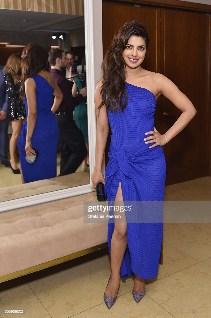 Actress <a gi-track='captionPersonalityLinkClicked' href=/galleries/search?phrase=Priyanka+Chopra&family=editorial&specificpeople=228954 ng-click='$event.stopPropagation()'>Priyanka Chopra</a> attends ELLE's 6th Annual Women in Television Dinner Presented by Hearts on Fire Diamonds and Olay at Sunset Tower on January 20, 2016 in West Hollywood, California.