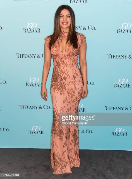 Actress Priyanka Chopra attends Harper's BAZAAR 150th Anniversary Event presented with Tiffany Co at The Rainbow Room on April 19 2017 in New York...