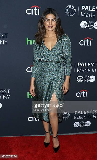 Actress Priyanka Chopra attends PaleyFest New York 2016 'Quantico' at The Paley Center for Media on October 17 2016 in New York City