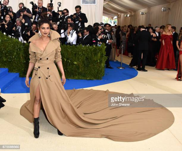 Actress Priyanka Chopra attends 'Rei Kawakubo/Comme des Garcons Art Of The InBetween' Costume Institute Gala at Metropolitan Museum of Art on May 1...