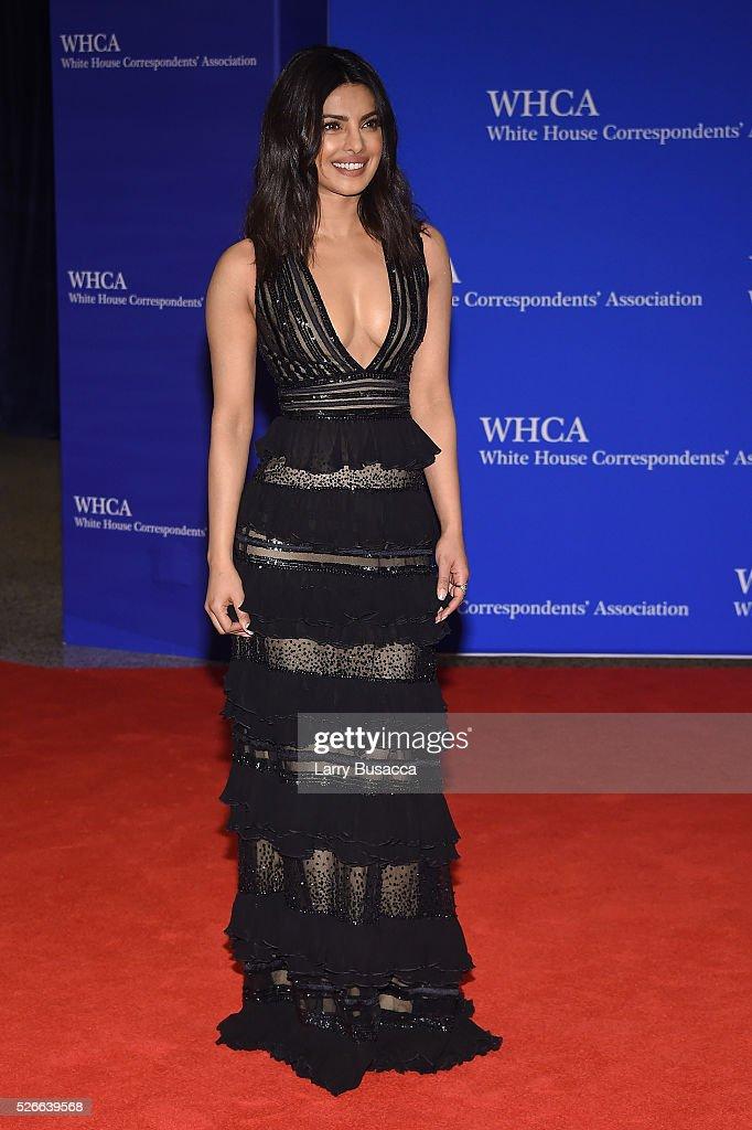 Actress Priyanka Chopra attends the 102nd White House Correspondents' Association Dinner on April 30, 2016 in Washington, DC.