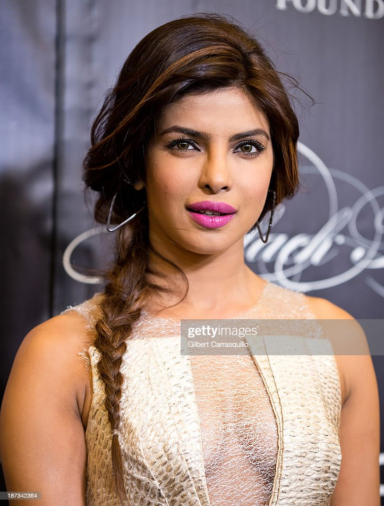 Actress <a gi-track='captionPersonalityLinkClicked' href=/galleries/search?phrase=Priyanka+Chopra&family=editorial&specificpeople=228954 ng-click='$event.stopPropagation()'>Priyanka Chopra</a> attends the 10th annual Keep A Child Alive Black Ball at Hammerstein Ballroom on November 7, 2013 in New York City.