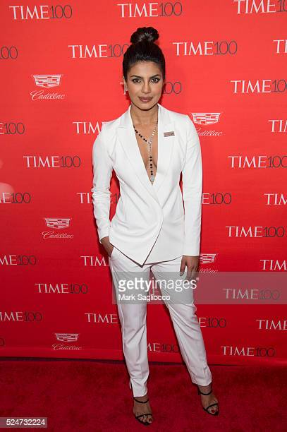 Actress Priyanka Chopra attends the 2016 Time 100 Gala at Frederick P Rose Hall Jazz at Lincoln Center on April 26 2016 in New York City