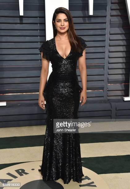 Actress Priyanka Chopra attends the 2017 Vanity Fair Oscar Party hosted by Graydon Carter at Wallis Annenberg Center for the Performing Arts on...