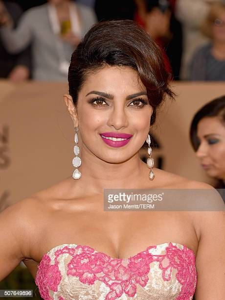 Actress Priyanka Chopra attends The 22nd Annual Screen Actors Guild Awards at The Shrine Auditorium on January 30 2016 in Los Angeles California...