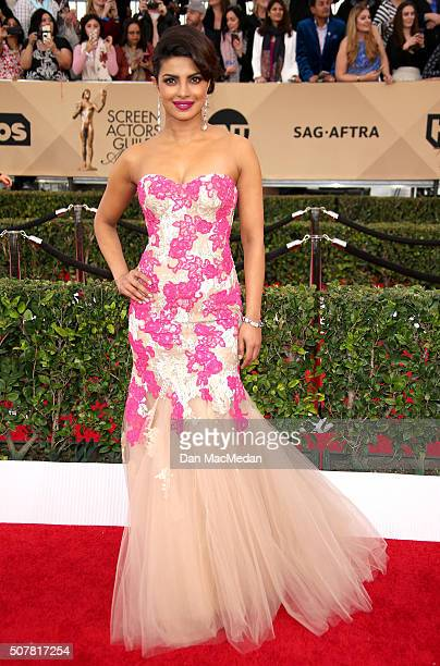 Actress Priyanka Chopra attends the 22nd Annual Screen Actors Guild Awards at The Shrine Auditorium on January 30 2016 in Los Angeles California