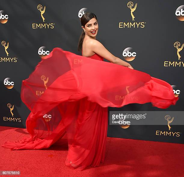 Actress Priyanka Chopra attends the 68th Annual Primetime Emmy Awards at Microsoft Theater on September 18 2016 in Los Angeles California