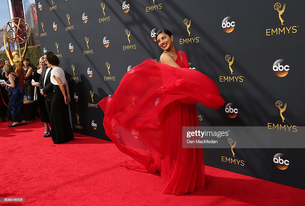 Actress Priyanka Chopra attends the 68th Annual Primetime Emmy Awards at Microsoft Theater on September 18, 2016 in Los Angeles, California.