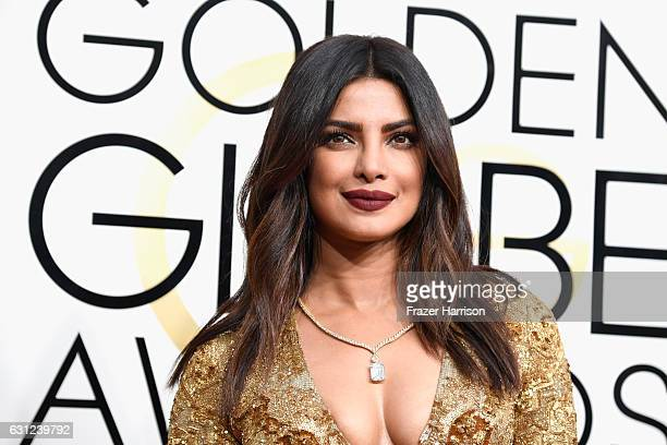 Actress Priyanka Chopra attends the 74th Annual Golden Globe Awards at The Beverly Hilton Hotel on January 8 2017 in Beverly Hills California