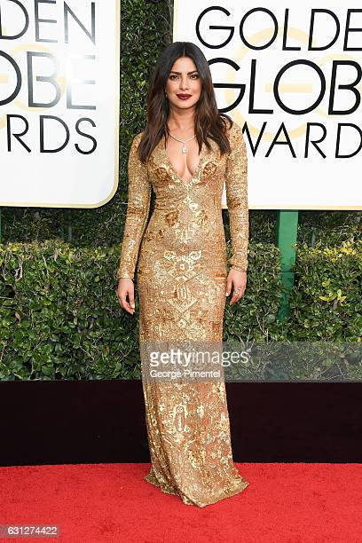 Actress Priyanka Chopra attends the 74th Annual Golden Globe Awards held at The Beverly Hilton Hotel on January 8 2017 in Beverly Hills California