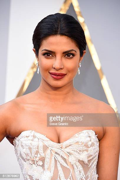 Actress Priyanka Chopra attends the 88th Annual Academy Awards at Hollywood Highland Center on February 28 2016 in Hollywood California