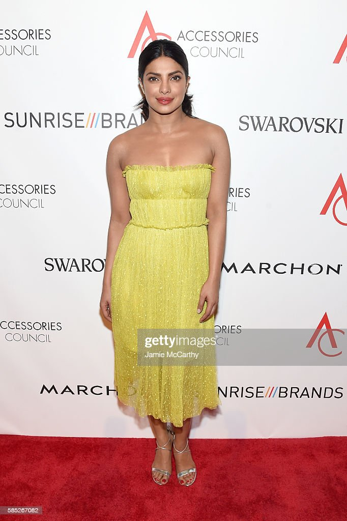 Actress Priyanka Chopra attends the Accessories Council 20th Anniversary celebration of the ACE awards at Cipriani 42nd Street on August 2, 2016 in New York City.