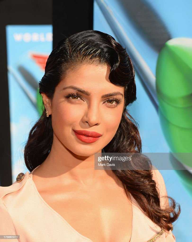 Actress <a gi-track='captionPersonalityLinkClicked' href=/galleries/search?phrase=Priyanka+Chopra&family=editorial&specificpeople=228954 ng-click='$event.stopPropagation()'>Priyanka Chopra</a> attends the premiere of Disney's 'Planes' at the El Capitan Theatre on August 5, 2013 in Hollywood, California.