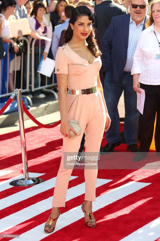 Actress Priyanka Chopra attends the premiere of Disney's 'Planes' at the El Capitan Theatre on August 5, 2013 in Hollywood, California.