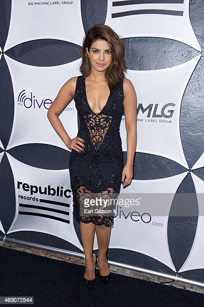 Actress Priyanka Chopra attends the Republic Records And Big Machine Label Group's Grammy Celelbration at Warwick on February 8 2015 in Los Angeles...
