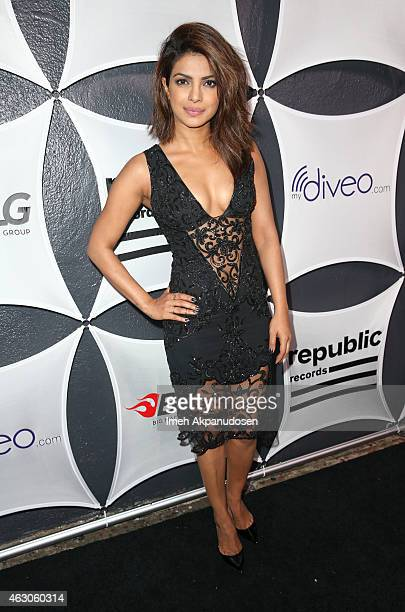Actress Priyanka Chopra attends the Republic Records / Big Machine Label Group Grammy Celebration on February 8 2015 in Hollywood California