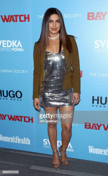 Actress Priyanka Chopra attends the screening of 'Baywatch' hosted by The Cinema Society at Landmark Sunshine Cinema on May 22 2017 in New York City