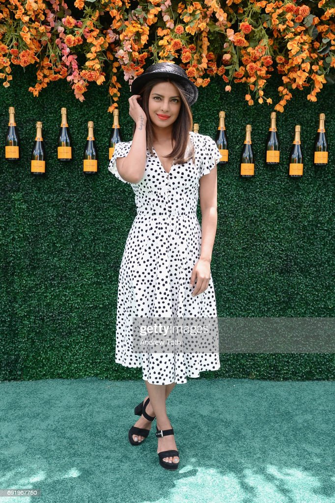 Actress Priyanka Chopra attends The Tenth Annual Veuve Clicquot Polo Classic at Liberty State Park on June 3, 2017 in Jersey City, New Jersey.