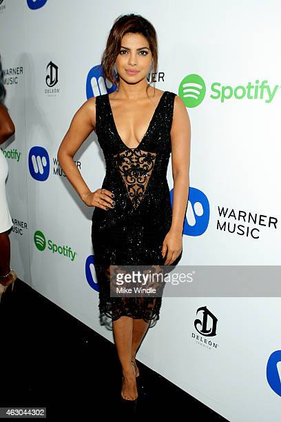 Actress Priyanka Chopra attends the Warner Music Group annual Grammy celebration at Chateau Marmont on February 8 2015 in Los Angeles California