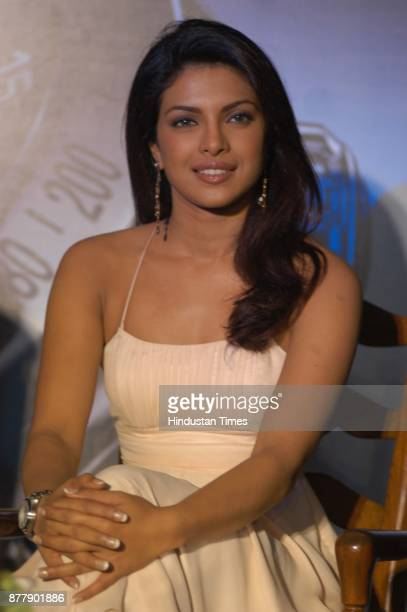 Actress Priyanka Chopra during the launch of new Generation Electro mechanical watch at the press conference in New Delhi on Sunday