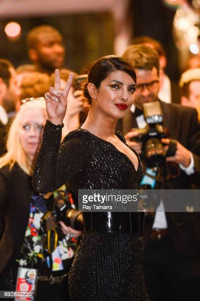 Actress Priyanka Chopra enters the CFDA Fashion Awards at Hammerstein Ballroom on June 5 2017 in New York City