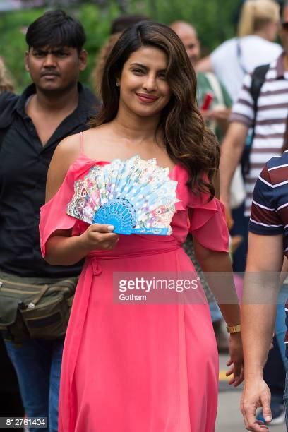 Actress Priyanka Chopra is seen filming 'Isn't It Romantic' in Central Park on July 11 2017 in New York City
