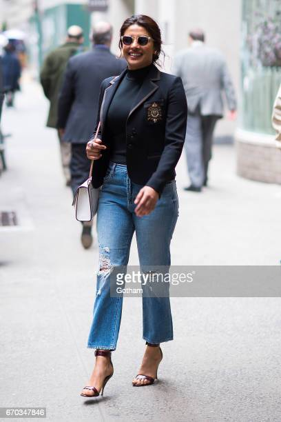 Actress Priyanka Chopra is seen in Midtown on April 19 2017 in New York City