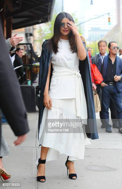 Actress Priyanka Chopra is seen walking in Soho on April 20 2017 in New York City