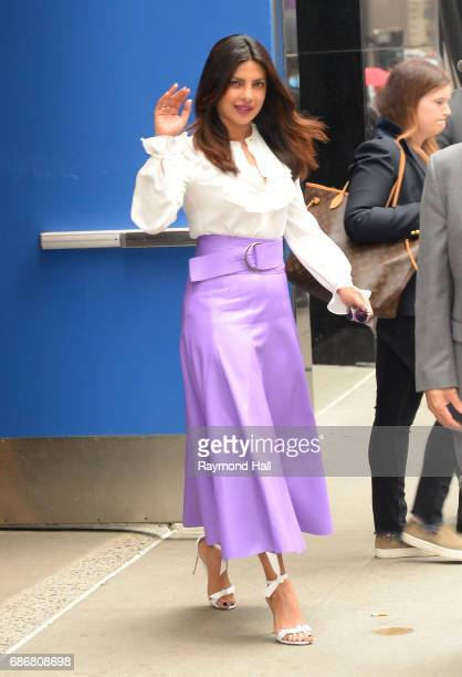 Actress Priyanka Chopra leaves the 'Good Morning America' taping at the ABC Times Square Studios on May 22 2017 in New York City