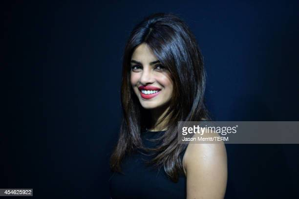 Actress Priyanka Chopra poses during the 'Mary Kom' Press Conference during the 2014 Toronto International Film Festival at TIFF Bell Lightbox on...