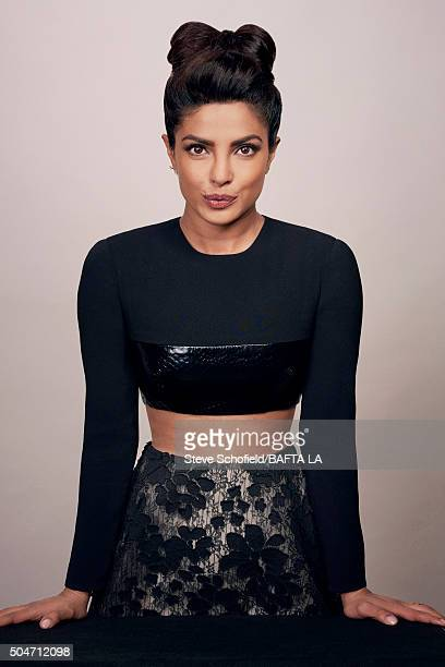 Actress Priyanka Chopra poses for a portrait at the BAFTA Los Angeles Awards Season Tea at the Four Seasons Hotel on January 9 2016 in Los Angeles...