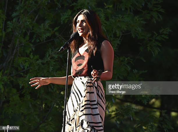 Actress Priyanka Chopra speaks onstage at the 2016 Global Citizen Festival In Central Park To End Extreme Poverty By 2030 at Central Park on...