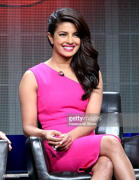 Actress Priyanka Chopra speaks onstage during the 'Quantico' panel discussion at the ABC Entertainment portion of the 2015 Summer TCA Tour at The...