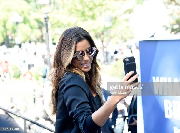 Actress producer and activist Eva Longoria in New York City launching Kiss This 4 MBCTM a new initiative by Novartis to raise muchneeded research...