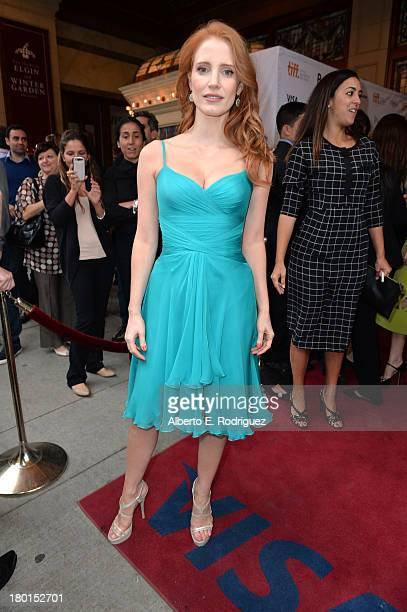 Actress/ producer Jessica Chastain arrives at the 'The Disappearance Of Eleanor Rigby Him And Her' Premiere during the 2013 Toronto International...