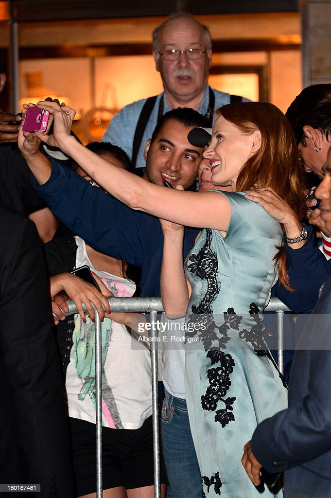 Actress/ producer Jessica Chastain arrives at the TIFF HFPA / InStyle Party during the 2013 Toronto International Film Festival at Windsor Arms Hotel on September 9, 2013 in Toronto, Canada.