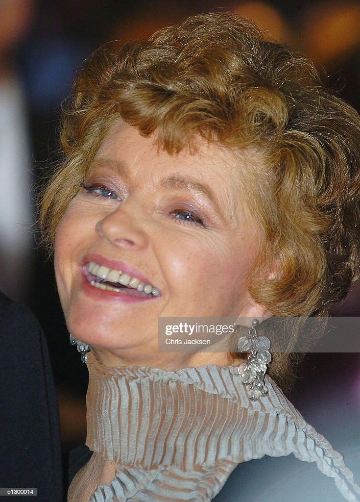Actress Prunella Scales attends the Royal Gala Premiere of Lord Andrew Lloyd Webber's new musical 'The Woman In White' at the Palace Theatre, Shaftesbury Avenue on September 13, 2004 in London.