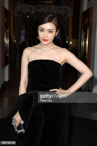 Actress Qin Lan is spotted at the Majestic hotel during the 70th annual Cannes Film Festival at on May 28 2017 in Cannes France