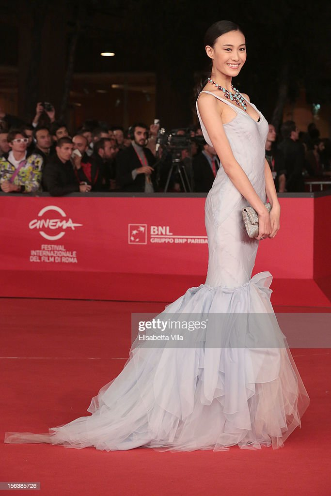 Actress Qin Shu Pei attends the 'Bullets To The Head' Premiere during the 7th Rome Film Festival at the Auditorium Parco Della Musica on November 14, 2012 in Rome, Italy.