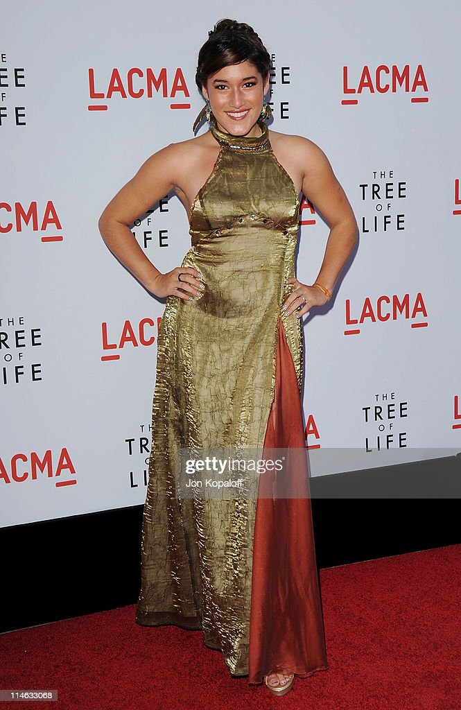 Actress Q'orianka Kilcher arrives at the Los Angeles Premiere 'The Tree Of Life' at the Bing Theatre at LACMA on May 24 2011 in Los Angeles California