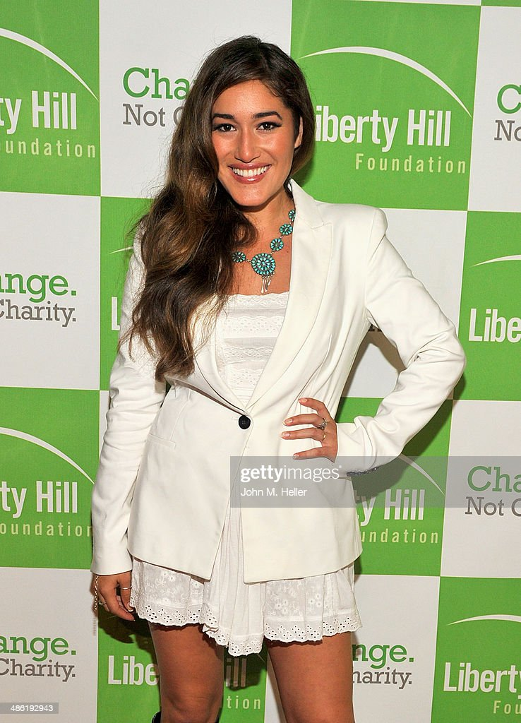 Actress Q'orianka Kilcher attends the Liberty Hill's Upton Sinclair Awards dinner at The Beverly Hilton Hotel on April 22, 2014 in Beverly Hills, California.