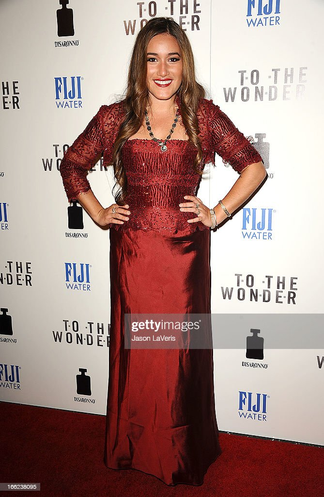 Actress Q'orianka Kilcher attends the premiere of 'To The Wonder' at Pacific Design Center on April 9, 2013 in West Hollywood, California.