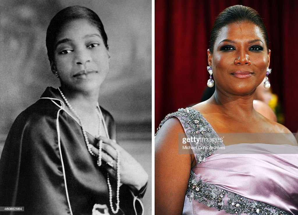 In this composite image a comparison has been made between <a gi-track='captionPersonalityLinkClicked' href=/galleries/search?phrase=Bessie+Smith&family=editorial&specificpeople=894889 ng-click='$event.stopPropagation()'>Bessie Smith</a> (L) and actress <a gi-track='captionPersonalityLinkClicked' href=/galleries/search?phrase=Queen+Latifah&family=editorial&specificpeople=171793 ng-click='$event.stopPropagation()'>Queen Latifah</a>. Actress <a gi-track='captionPersonalityLinkClicked' href=/galleries/search?phrase=Queen+Latifah&family=editorial&specificpeople=171793 ng-click='$event.stopPropagation()'>Queen Latifah</a> will reportedly play singer <a gi-track='captionPersonalityLinkClicked' href=/galleries/search?phrase=Bessie+Smith&family=editorial&specificpeople=894889 ng-click='$event.stopPropagation()'>Bessie Smith</a> in a TV film biopic 'Bessie' directed by Dee Rees. HOLLYWOOD - MARCH 07: Actress <a gi-track='captionPersonalityLinkClicked' href=/galleries/search?phrase=Queen+Latifah&family=editorial&specificpeople=171793 ng-click='$event.stopPropagation()'>Queen Latifah</a> arrives at the 82nd Annual Academy Awards held at Kodak Theatre on March 7, 2010 in Hollywood, California.